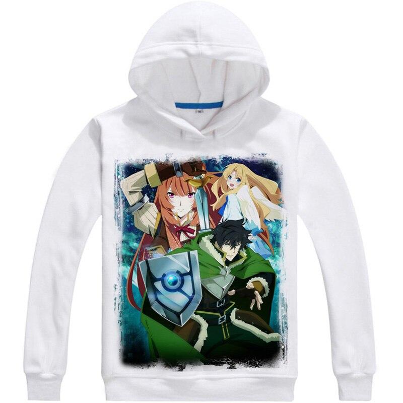 The Rising of the Shield Hero Naofumi Iwatani cosplay Printed Hoodies Men Casual Fleece Winter Sweatshirts Raphtalia Hoody