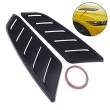1 Paar Universele Abs Plastic Auto Air Intake Scoop Bonnet Voor Hood Vent Panel Decoratie Accessoires Voor Ford Mustang 2015 2017