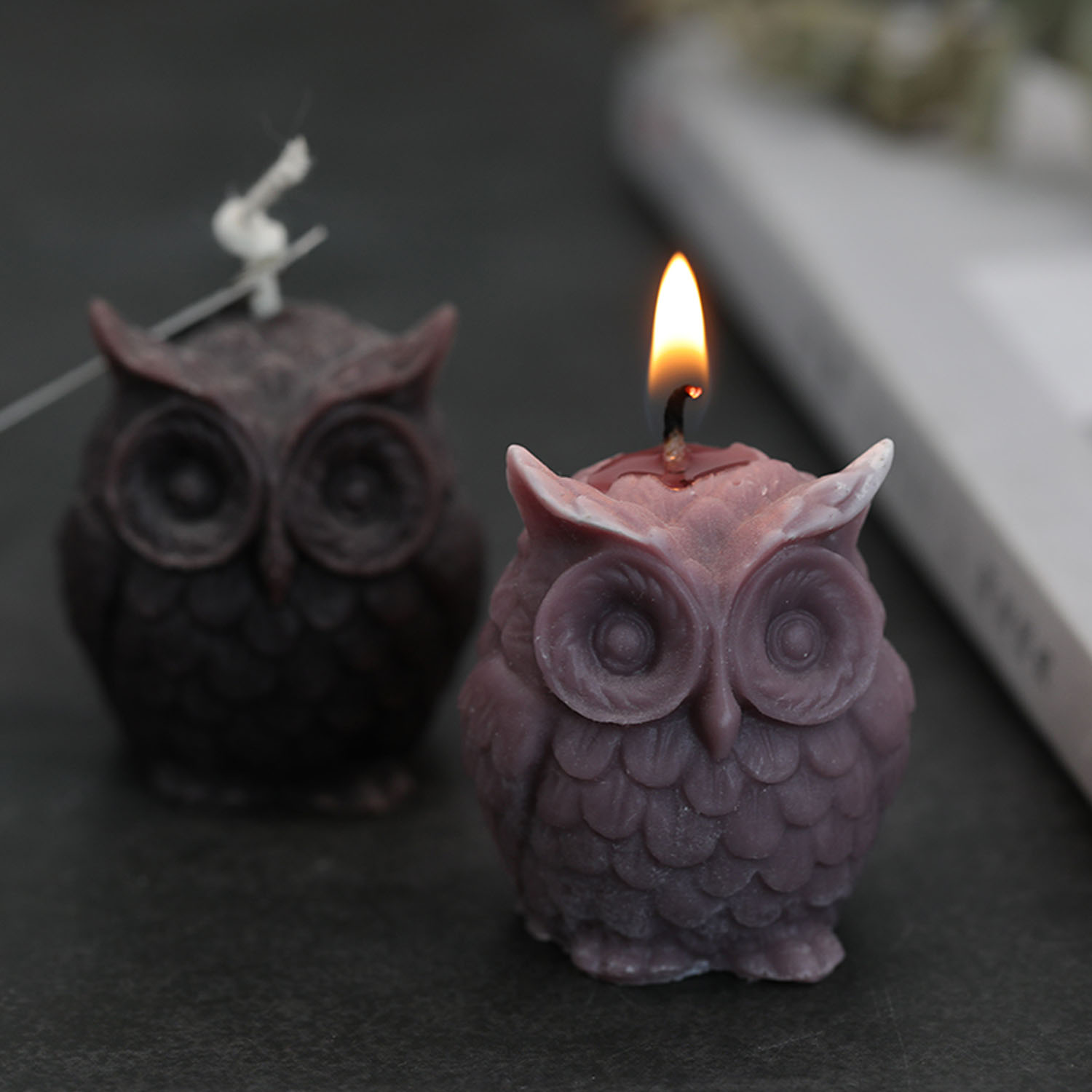 3D Owl Candle Mold Silicone Mold For Candle Making DIY Handmade Resin Molds For Plaster Wax Mould