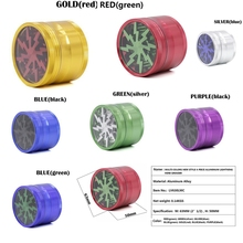 Colorful Lightning Herb Grinder Weed 4 Layer 63mm Aluminum Smoke Tobacco Drop Shipping Accessories