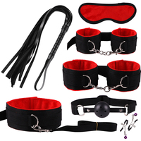 Sets Sex Toys for Women Men Handcuffs Nipple Clamps Whip Spanking Sex Silicone Metal Anal Plug Butt Bdsm Vibrator Bondage Set