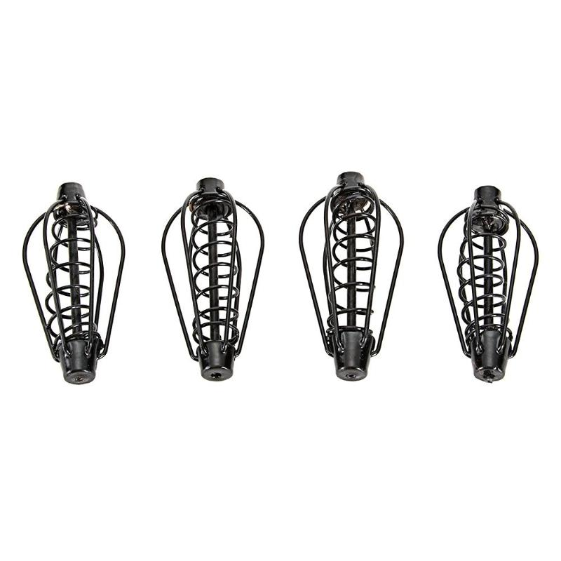 Black Metal Feeder Bait Spring Cage Fish Bait Basket Holder Fishing Tools Articulos De Pesca Fishing Tackle
