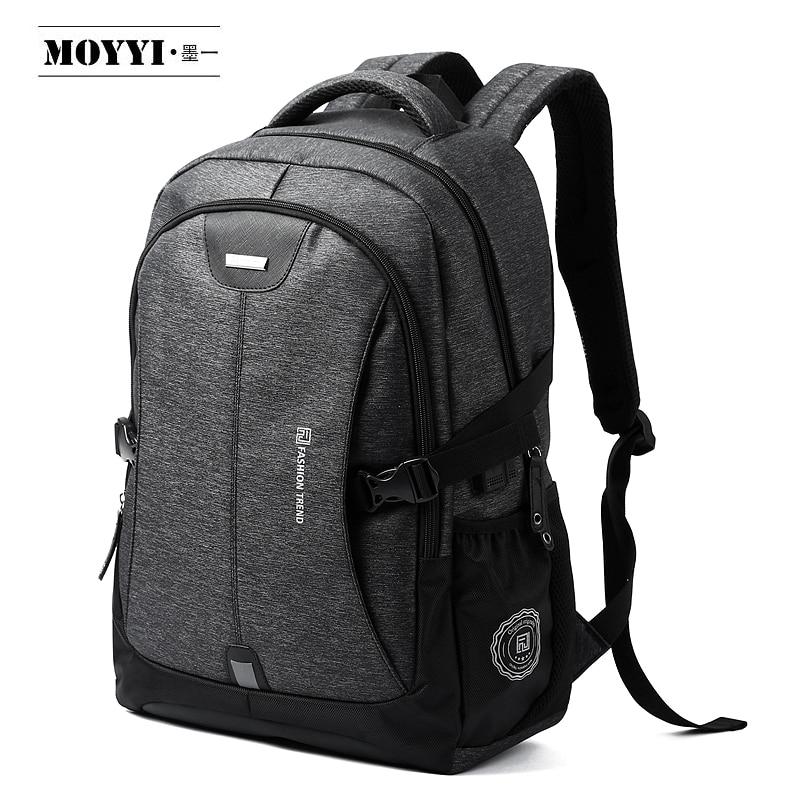 MOYYI Men Backpack New Arrive 2019 Large Capacity 17.3'' Laptop Backpacks W/ USB Charging Port Male Outdoor Travel Mochila
