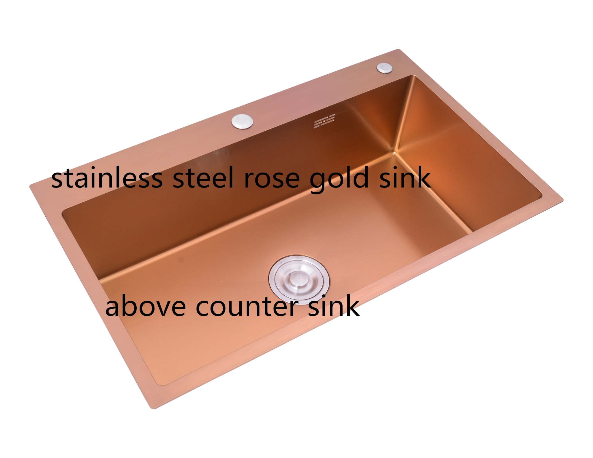 Rose Gold Kitchen Sink Undermount Balcony Small Apartment Bar Small Single Slot Brushed Sink Mini Kitchen Sinks Drainer Basket