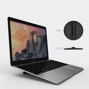 Image 5 - ユニバーサルラップトップホルダー黒折りたたみポータブルラップトップスタンド、サポート7 17インチノートブック、macbook airはproのノートクーラースタンド