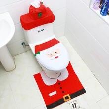 2021 Рождественский чехол для унитаза Санта Клаус Снеговик из