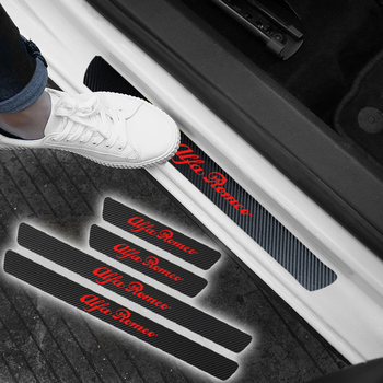 Protector de fibra de carbono para coche, adhesivo para alféizar de puerta...