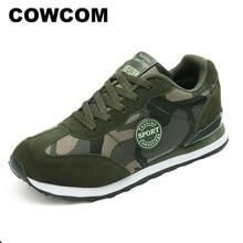 Cowcom Drop Koop Zomer Mesh Ademend Platte Bodem Camouflage Damesschoenen Lace Groen Sneakers Sneakers Leger CYL A07