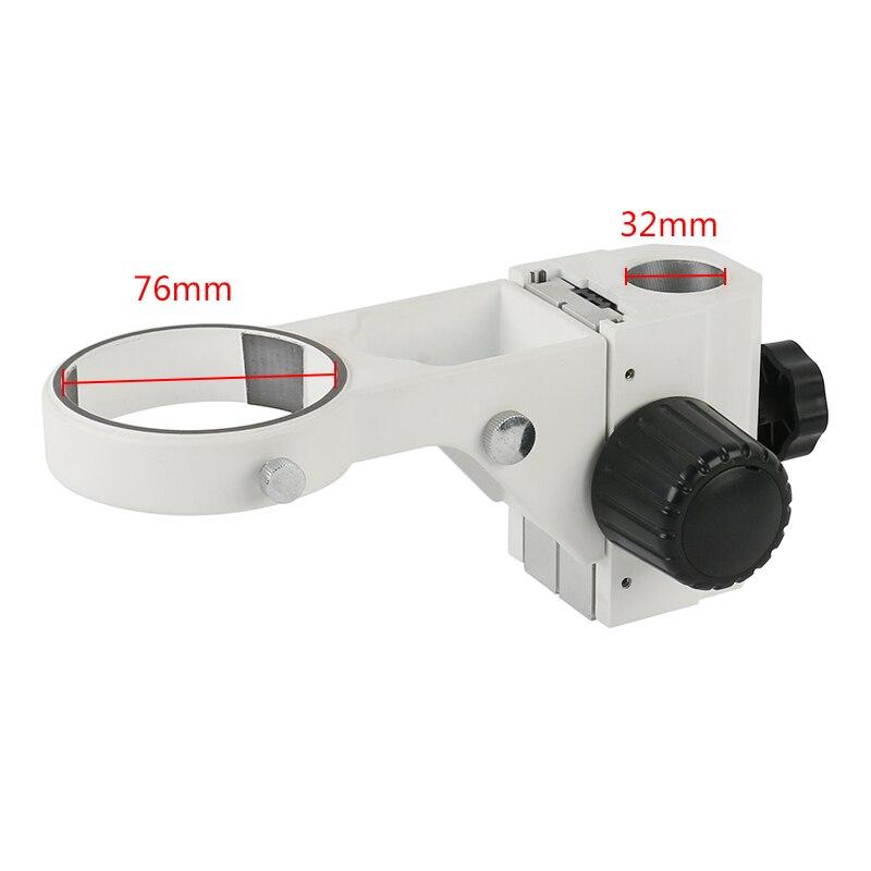 เส้นผ่านศูนย์กลาง 32 มม.สเตอริโอกล้องจุลทรรศน์ปรับ 76 มม.โฟกัสวงเล็บโฟกัสสำหรับ Tinocular กล้องจุลท...