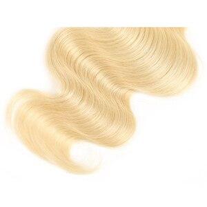Image 4 - Body Wave Human Hair Bundles X TRESS Brazilian Platinum Blonde 613 Hair Bundles 8 26inch Non remy Bundle Hair Weaving Extensions
