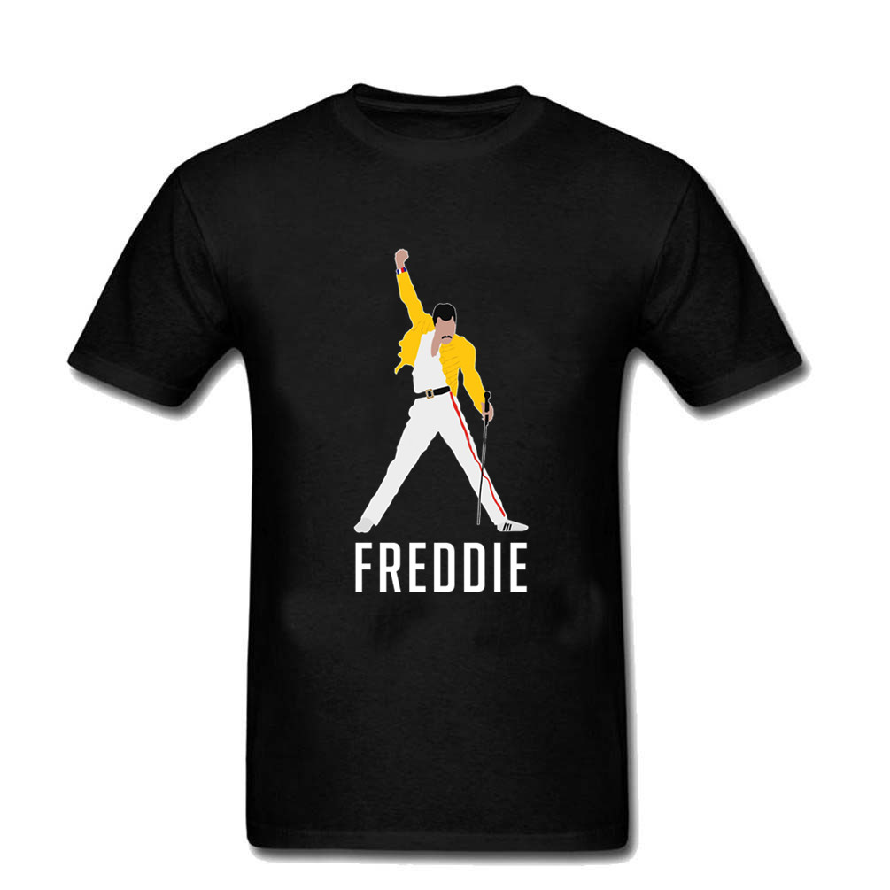 Men T Shirt Freddie Mercury Queen Band T Shirts Men Harajuku Hipster T Shirts Tee Shirts Mens Short Sleeve Clothing