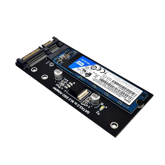 H1111Z Add On Card NGFF M.2 Adapter M2 SATA3 Raiser M.2 to SATA Adapter SSD M2 to SATA Expansion Card B Key Suppor 30/42/60/80mm 4
