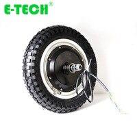 E tech 12 inch 24v 36v 48v BLDC electric bicycle wheel hub motor