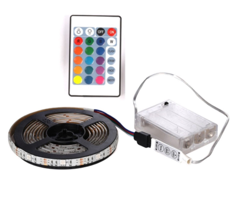 Led Strip Light With Battery Box(without Battery)/USB Power 0.5m 1m 2m 3m Flexible Lighting Ribbon Switch Models/remote Control