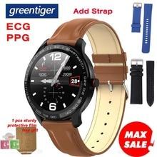 Reloj inteligente Greentiger L9 para hombres ECG + Monitor de oxígeno de presión arterial PPG de frecuencia cardíaca IP68 Smartwatch Bluetooth resistente al agua VS L5 L7 L8