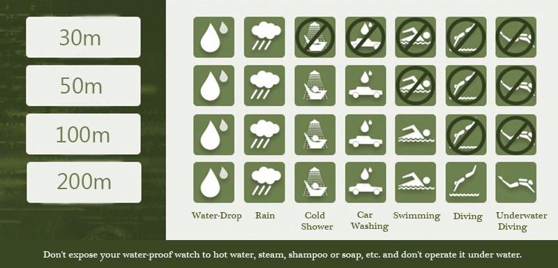 calendário à prova dwaterproof água lua couro