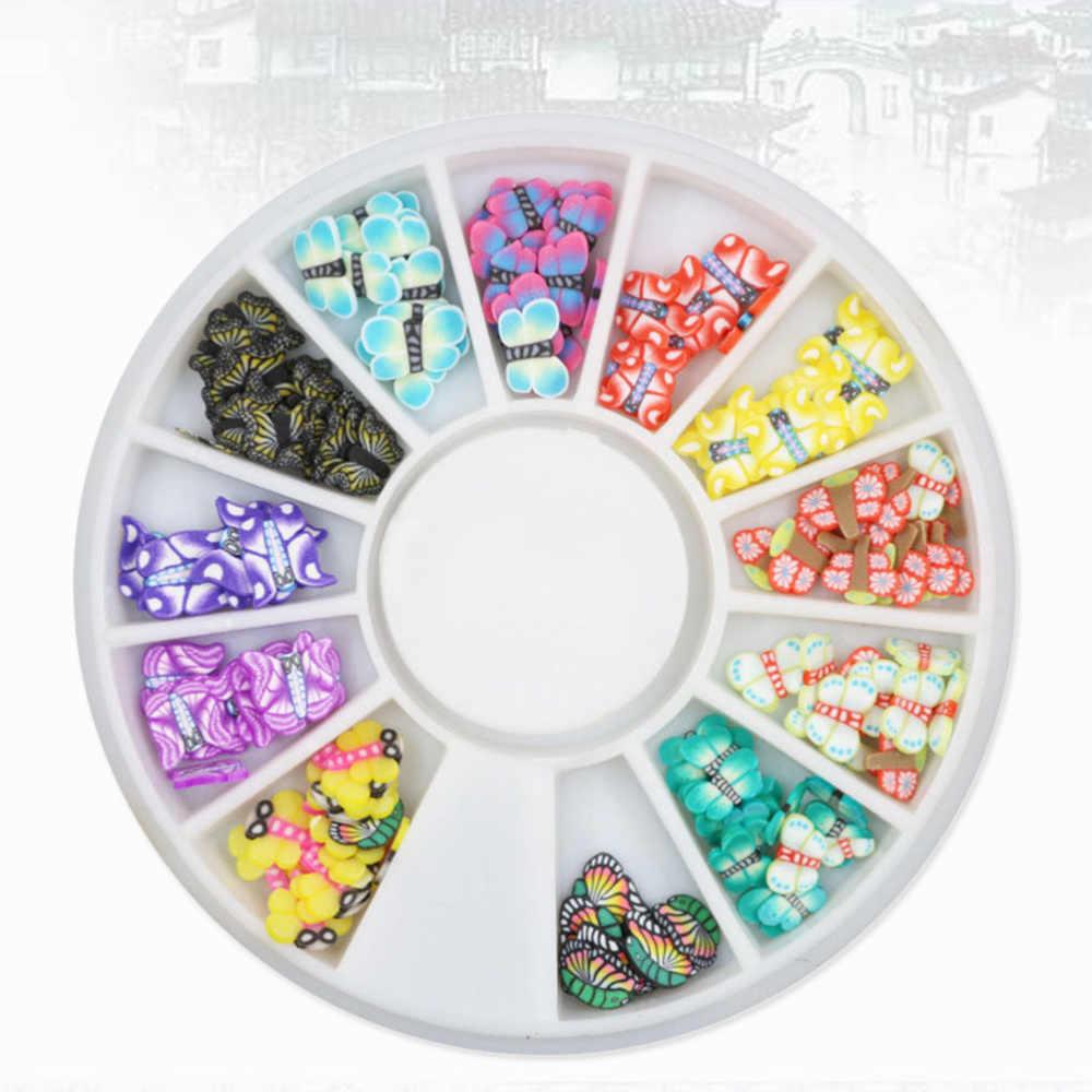 Multicolore Molti Stili di Disegno Della Farfalla 3D Nails Art Stickers Ruota Pendenti E Ciondoli Artigianato FAI DA TE Cassa Del Telefono Scrapbook Ornati E Decori