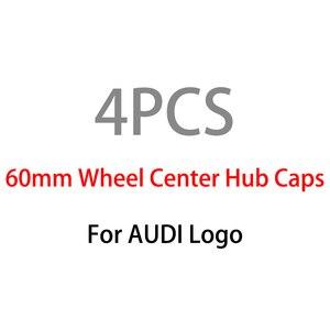 4 шт. 60 мм серый центральный колпак на колесо автомобиля колпачки ступицы автомобильные диски крышка для Audi A3 A4 A6 A8 автомобильные аксессуары ...