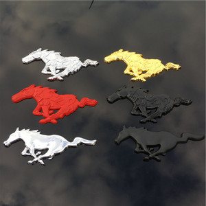 Image 3 - 3D Metal Running Horse Decal Car Decoration Body Car Stickers Accessories Universal For Ford Mustang Shelby GT Car Styling