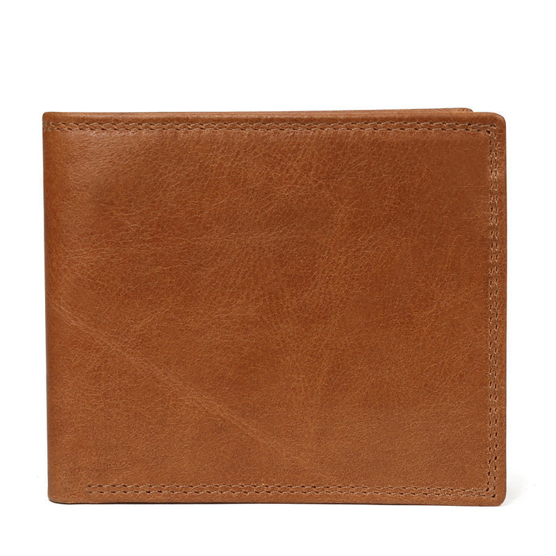 H8f50740d26e34cc2a85a74c91884f7e4Z - GENODERN Cow Leather Men Wallets with Coin Pocket Vintage Male Purse Function Brown Genuine Leather Men Wallet with Card Holders