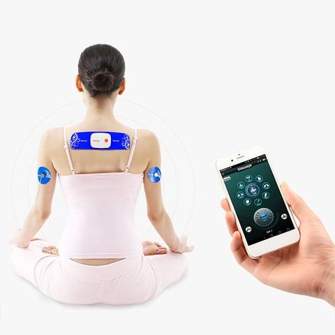 portatil sem fio inteligente massageador app controle bluetooth pulso tenso tech 15 posicoes de engrenagem