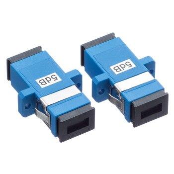 5PCS/bag SC 3dB 5dB to 15dB  fixed type fiber optic Attenuator,flange optical attenuator