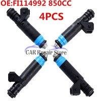 4PCS Fuel Injectors 80LB 850cc & EV1 For Siemens Deka For Toyota For Audi For GM 110324 FI114992 110324 F127B00418 New