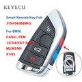 Tecla remota de repuesto negra keyeco 4 botones 315/433/868MHz para BMW 1 2 3 4 5 6 7 Series X1 X3 F chasis CAS4 + Quel 2011-2017