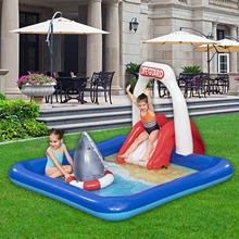 Family Inflatable Water Park Swimming Pool Outdoor Garden Water Mat For Kid Adult Swimming Pool With Slide Pad Summer Swim Pool