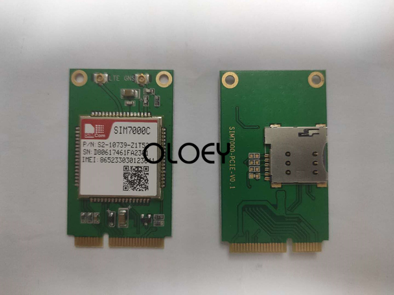 SIM7000C MINIPCIE CAT-M NBIOT Wireless Module, With SIM Card Slot,SIM7000
