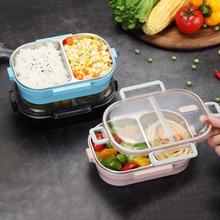Japanese-style Stainless Steel Lunch Box Compartment Sealed Bento Insulated