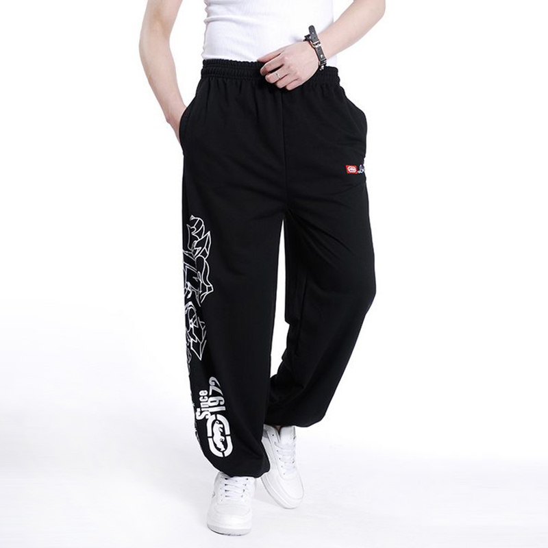 Streetwear 2020 Autumn Spring Cotton Loose Man Harem Pants Mens Sweatpant Hip Hop Trousers Male Plus Size Clothing Parkour Pants