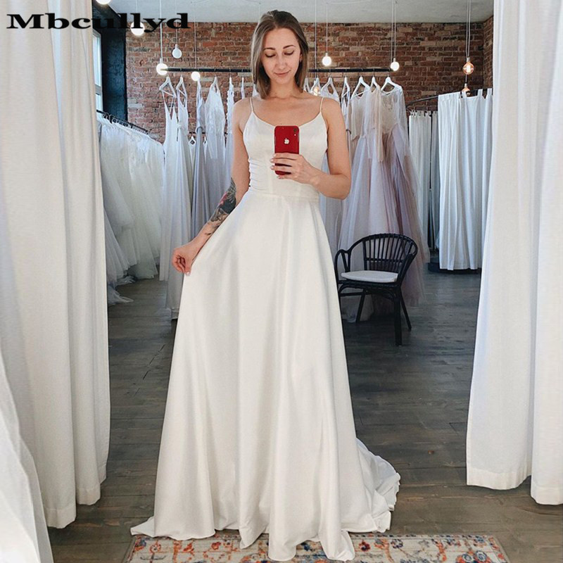 Mbcullyd A-line   Prom     Dresses   Long 2019 Sexy Backless Satin Evening   Dress   For Women Cheap Under 100 Plus Size Vestidos De Gala