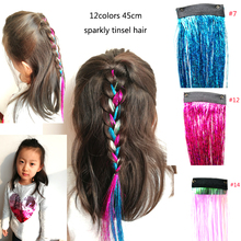 1pcs BB clips Sparkly Tinsel hair braids twinkle ha