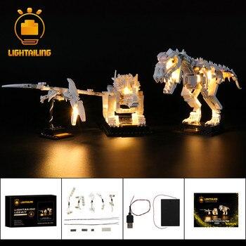LIGHTAILING LED Light Kit For 21320 Ideas Series Dinosaur Fossils Toys Building Blocks Lighting Set 27pcs natural teeth fossils aspecimens kit ornaments morocco shark teeth fossils