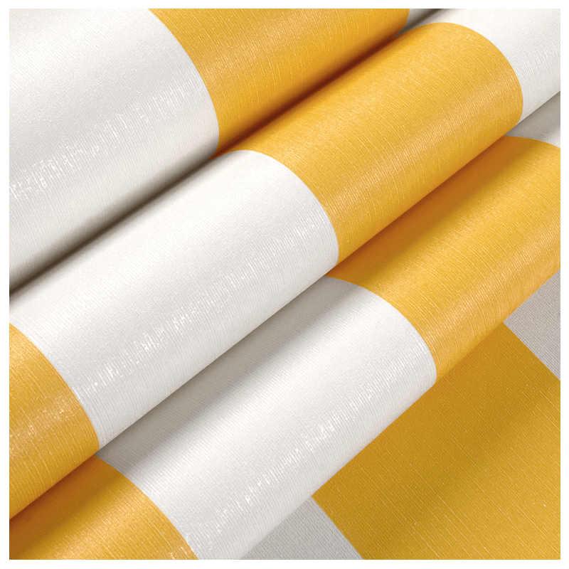 Lucu Berjalur Lebar Kuning Wallpaper 3d Hitam Garis garis Merah Non Woven Wallpaper Roll Kamar Anak.jpg q50
