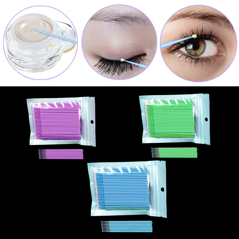 Durable Micro Disposable Eyelash Extension Makeup Brushes Individual Applicators Mascara Removing Tools Multifunctional Supplies