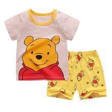 Ropa de dibujos animados para niños pequeños, camisetas de verano para niñas de 1, 2, 3 y 4 años, camiseta + pantalones cortos, 2020