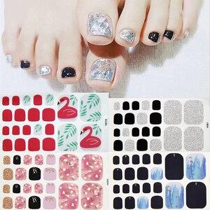 7 листов/набор, наклейки для ногтей, самоклеющиеся блестящие цветные водонепроницаемые наклейки для ногтей-лак для ногтей