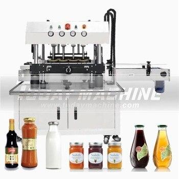 Servo automático, 6 cabezales, Gel antiséptico para manos desinfectante en Alcohol, máquina de llenado y tapado de botellas