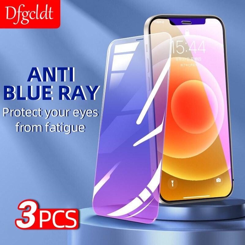 Закаленное стекло с защитой от синего света для iPhone 12 mini 11 Pro Max X XR 8 7 6S Plus SE 2020
