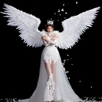 Performance show clothing wings adult stage performance props photo shoot wedding photography angel feather wings party favors