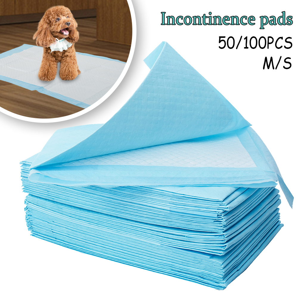 50/100pcs Dog Training Pee Pads Super Absorbent Pet Diaper  Disposable Healthy Clean Nappy Mat For Pets Dairy Diaper Supplies