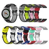 18mm Uhr strap band Für Garmin Vivoactive4s Sport silicoe Armband Für Garmin Vivoactive 4 Handgelenk armband 22mm doppel farbe