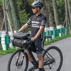 Image 2 - ROCKBROS sac de vélo grande capacité étanche Tube avant sac de cyclisme vtt guidon sac avant cadre coffre sacoche vélo accessoires