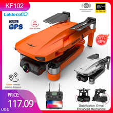2021New KF102 Gps Drone 6K Dual HD Camera 2-Axis Gimbal Brushless Motor Aerial Photography 1200M RC Distance Foldable Quadcopter