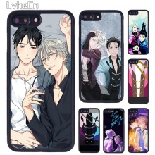 LvheCn Yuri On ICE Katsuki Victor Nikiforov Ponsel Case untuk iPhone 5 SE 6S 7 7 Plus 11 Pro X XR X Max Samsung Galaxy S8 S9 S10(China)