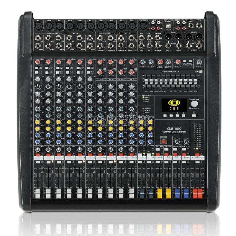 Dynacord CMS1000-3 CMS 1000-3 table de mixage audio dj table de mixage professionnelle avec couvercle en plastique double effets DSP