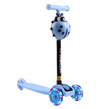 Scooter Kids Children 3-Wheel Toys Led-Light Flashing City-Roller Gifts Kick Adjustable