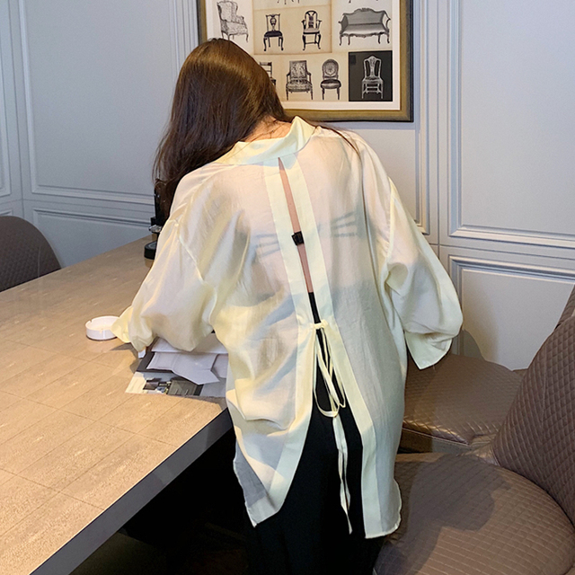 New  Blouse  Women Shirt   Long-sleeved thin section Tops   Ladies BL055 1